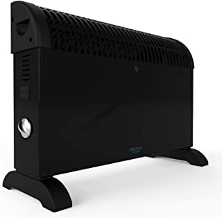 Cecotec Convector Ready Warm 6500 Turbo Convection. Potente- Termostato Regulable- 4 Modos- Soporte de pie- Proteccion sobrecalentamiento- Silencioso- Calor 360º- 2000 W